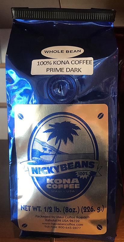 Nicky Beans 100% Kona Coffee