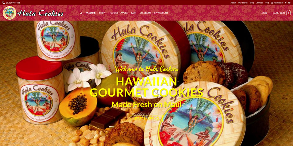 Hula Cookies Website